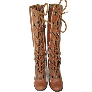 Seychelles Tall Leather Lace Up Boots